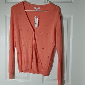 New York & Company Sweaters - New York & Company Coral Cardigan